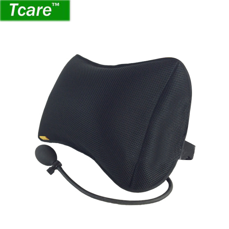 Tcare Portable Inflatable Lumbar Support Cushion/ Massage Pillows  Orthopedic Design For Back Pain Relief  Lumbar Support Pillow