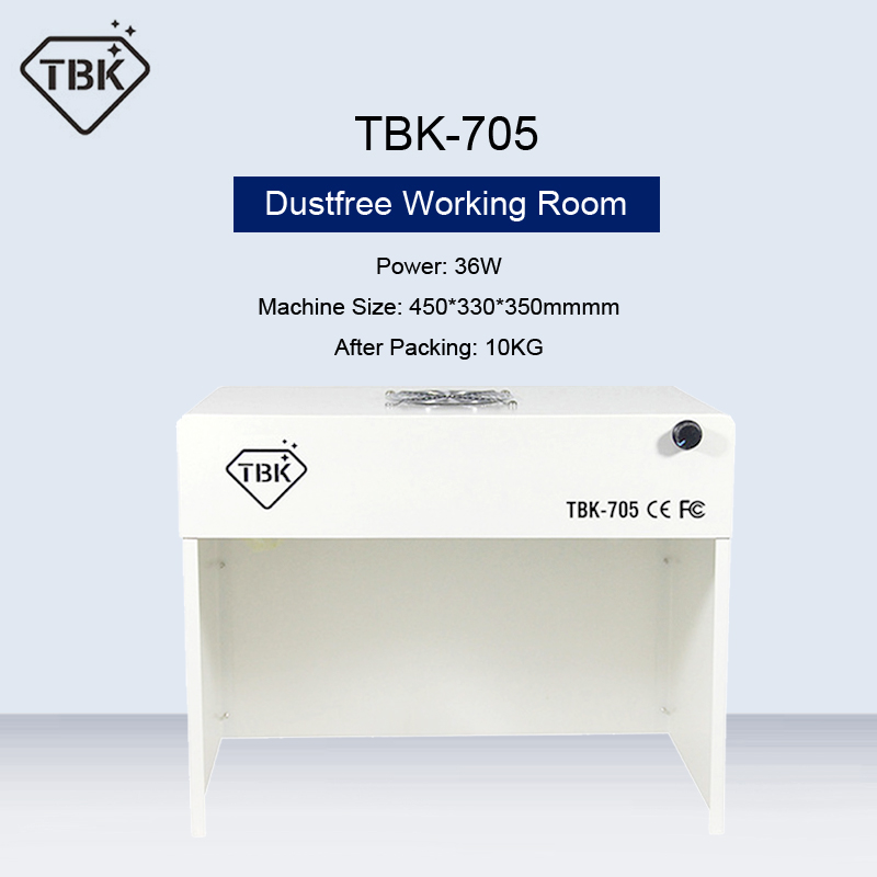 TBK-705 Mini Dustfree Working Room Cleaning Dust-Free Working Room Bench Table Phone Motherboard Repair Anti-Dust Free Room