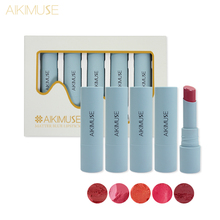 KIMUSE 5 PCS/1Set  Matte Blue Lipstick Moisturizer Water-proof Nutritious Easy To Wear Beauty Liquid Christmas Gifts