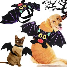 Halloween Bat Wings Carnival Cosplay Costume Dog Coat Pets Faux Pockets Cat Pup Hoodie Jacket Costumes Clothes S-XL(China)