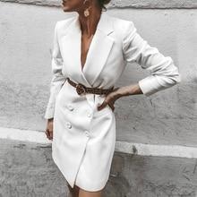 2019 Fashion Vintage Solid Women Blazer Autumn Winter Slim Long Check Office Jacket Feminino Outerwear