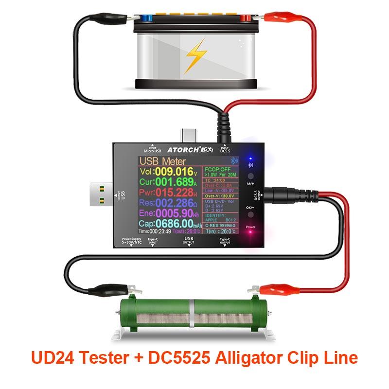 DC5.5 USB testeur voltmètre numérique ampèremètre batterie externe détecteur de tension volt Amper voiture 12V 24V batterie routeur compteur électrique