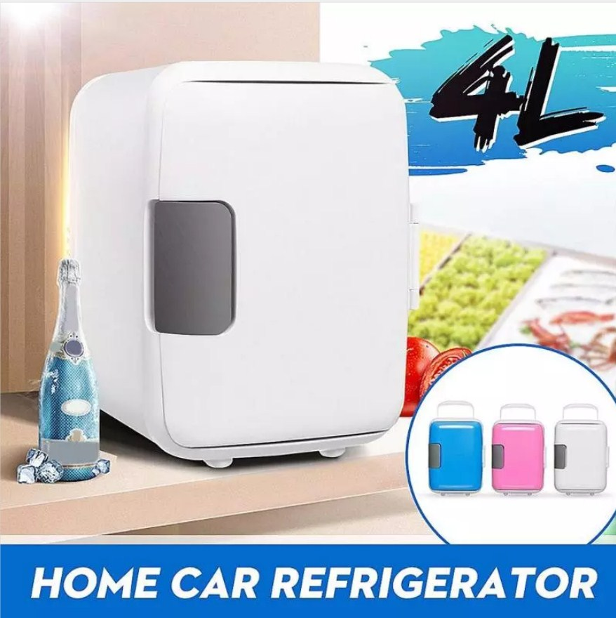 Portable 4L Cooling Warming Refrigerator Fridge Freezer Cooler Travel  For Auto Dual-Use Car Home Office Outdoor Picnic Travel