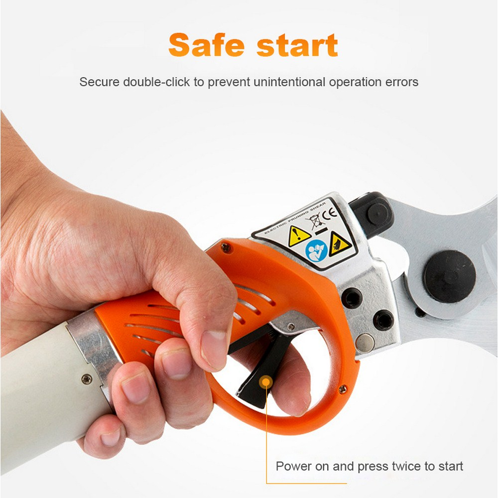 4400mah Lithium Secateurs Grafting Portable 450W Scissors Garden Electric Battery Electric Plants Shears Pruner Rechargeable For