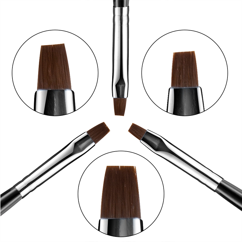 Top Quality 3Pcs Set Nail Art Brush Made With Wooden And Fiber Hair Material For Manicure Tool Set 9