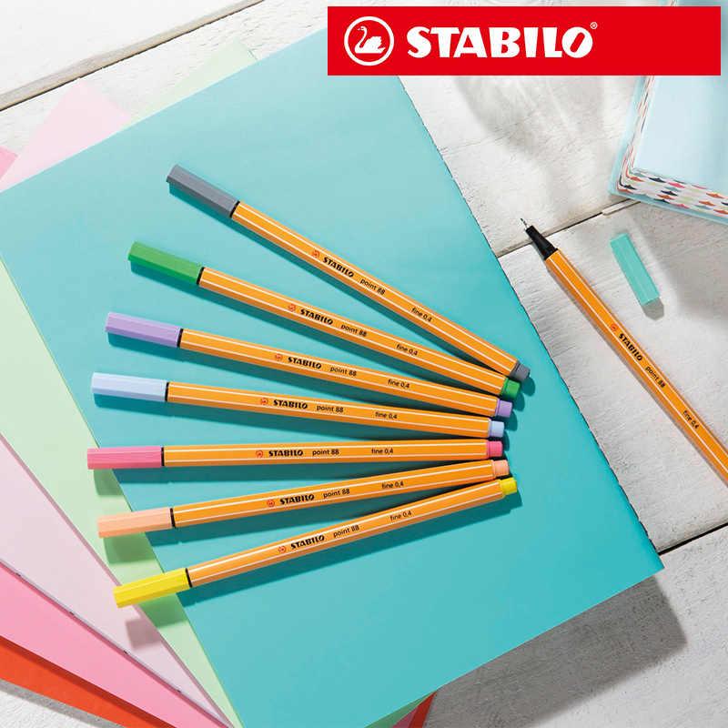 STABILO แปรงสีน้ำปากกา Line อุปกรณ์ศิลปะ MARKER สำหรับวาดภาพประกอบ Sketch copic markers มังงะ tombow