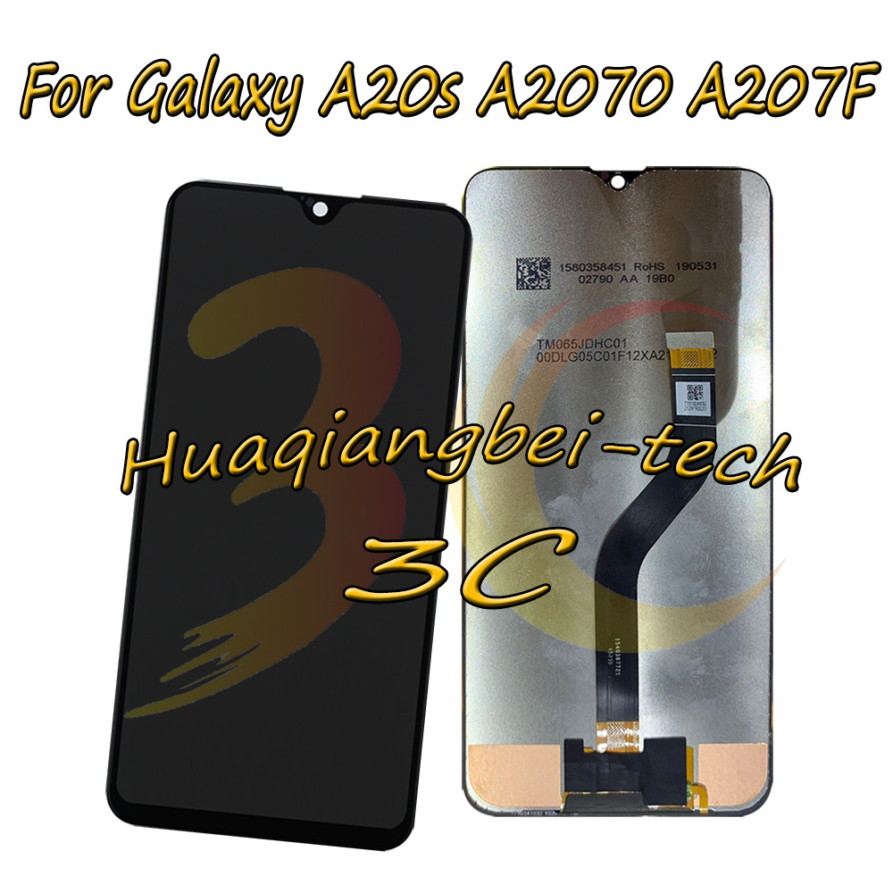 6.4'' New For Samsung Galaxy A20s A2070 A207F SM-A2070 A207F Full LCD DIsplay + Touch Screen Digitizer Assembly 100% Tested