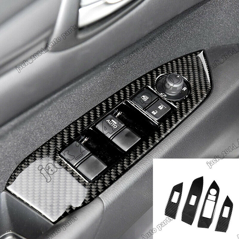 Real Carbon fiber Inner window switch panel cover Tirm For Mazda CX-5 CX5 2017-2018