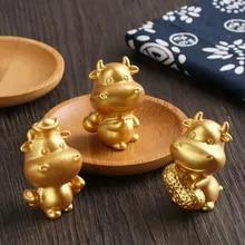 Bonsai Ornament Miniature Taurus Cow Figurines Animal Model Micro Landscape