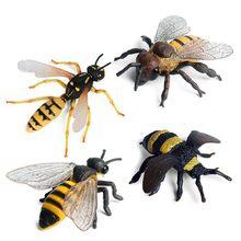Imitacja zwierzęcia pszczoła zabawki modele figurki lalki zabawki dla dzieci Party Festival Home torba dekoracyjna akcesoria do butów