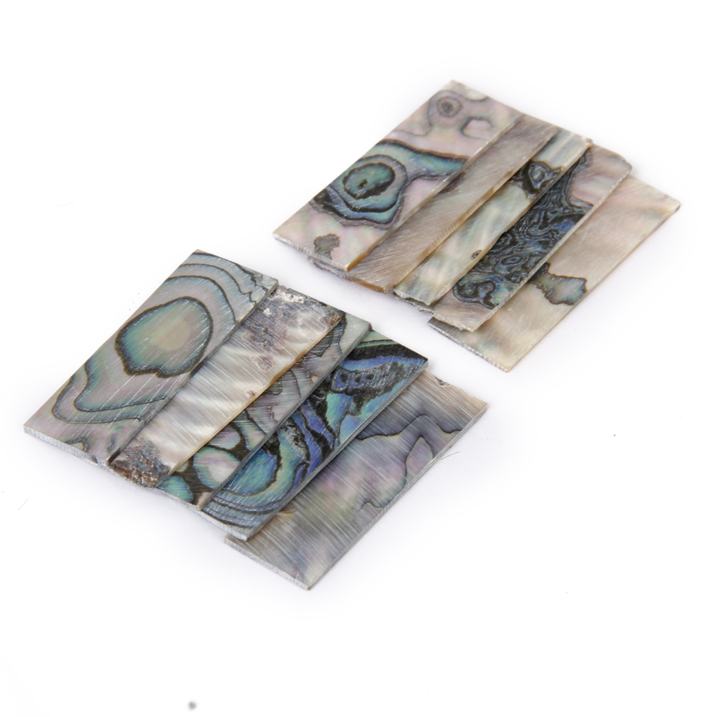 10 Pcs Rectangle MOP Mother Of Pearl Shell Blanks Sheets Inlay Materials 36x12x1mm, Easy To Cut