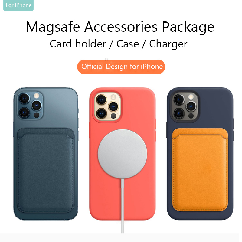 Iphone 12 Pro Case | Original Magsaf Card Slot For IPhone 12 Pro Case Magsafin Charger Official Silicone Cases For IPhone 12 Magsafing Back Accessory