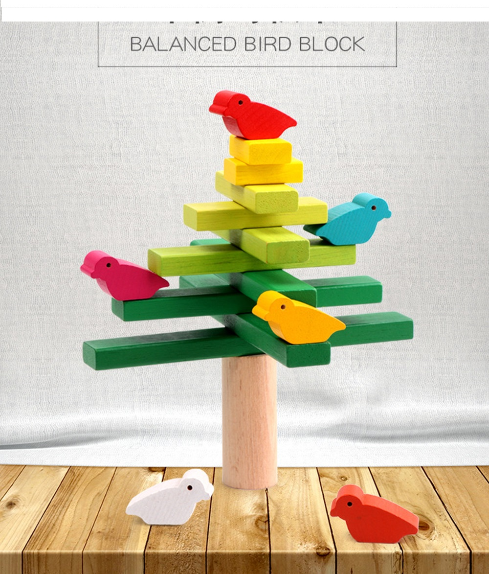 Image 3 - wooden toys Balance bird Tree kids toys Party Games Educational Toys for Children Interaction Kids toy Building blocks baby gift