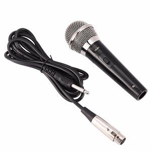 Image 1 - Microphone karaoké portable professionnel filaire Microphone dynamique clair micro Vocal pour karaoké partie chant musique Performance chaude