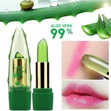 Lip Balm 99% Aloe Vera Color Changing With Temperature Jelly Lipstick Plant Moisturizing Lip Gloss Lips Care Wholesale