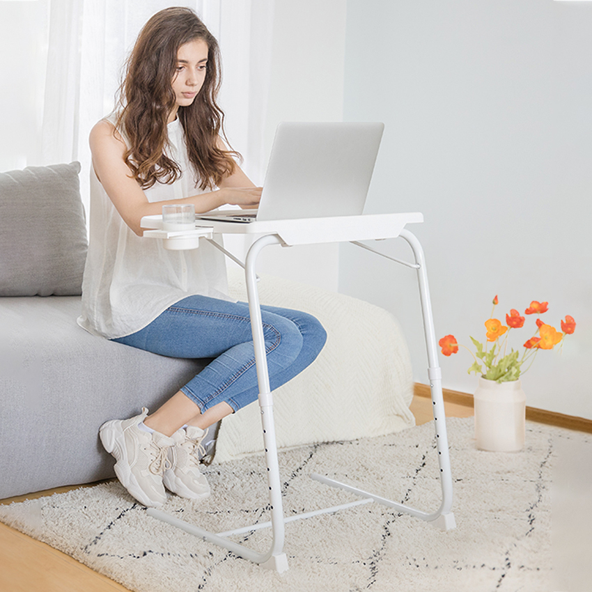 Simple Fashion Folding Laptop Table DIY Height Adjustment Multifunction Computer Desk Beside Bed Sofa Home Small Laptop Table