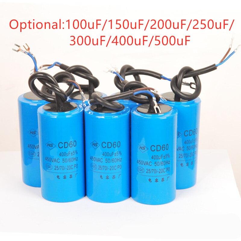 250VAC Water Pump Startup Capacitor Motor Capacitor Start Capacitor CD60 250VAC 100uF/150uF/200uF/250uF/300uF/400uF/500uF