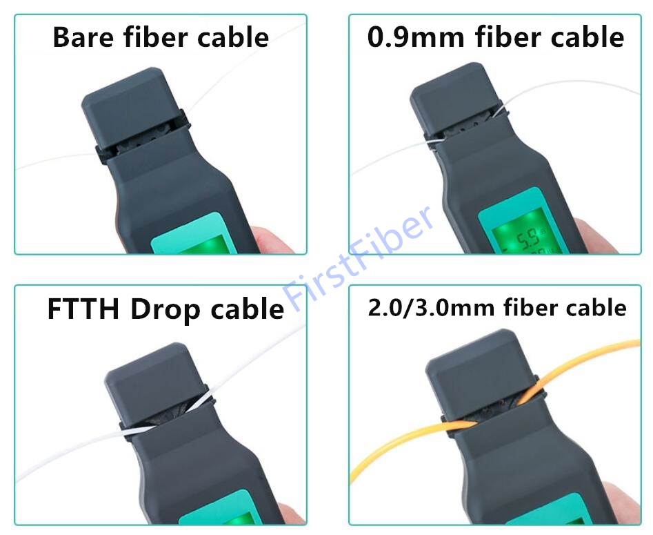 New Fiber Optical Identifier With Built 750nm-1700nm SM And MM Optical Fiber Identifier Handheld Fiber Cable FTTH Testing Tool