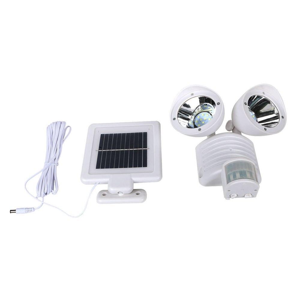 Двойной головкой 22 светодиодный светильник солнечный датчик движения безопасности тела настенный светильник Открытый сад @ 8 Jdh99 проектор