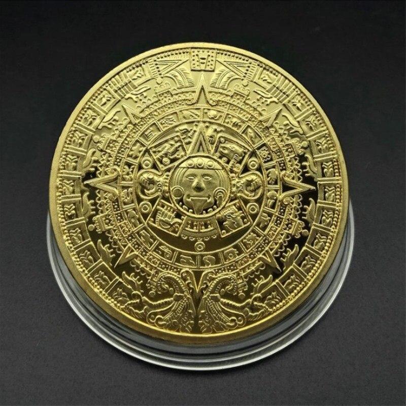 Пирамиды золотые американские монеты Майя серебряные невалютные ацтекские мексиканские зарубежные мемориальные|Безвалютные монеты|   | АлиЭкспресс