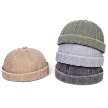 2020 new neutral fashion melon leather hats denim washed light board caps studen