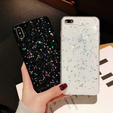 Mewah Glitter Star Moon Tpu Phone Case untuk Iphone X Xs Max 7 8Plus 6S Xr Transparan Tpu case untuk Iphone 11 Kasus Pro Max Cover(China)