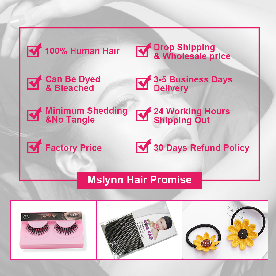 Brazilian Kinky Straight Hair 3 Bundles With Closure Human Hair Bundles Deal With 4x13 Lace Frontal Closure Mslynn Remy