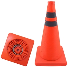 2 Packs of 15.5-Inch Foldable Traffic Cones, Multi-Purpose -Up Reflective Safety Cones