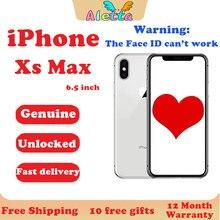 Apple-teléfono inteligente iPhone Xs Max libre, Original, usado, 6,5 pulgadas, sin identificación facial, NFC, 64GB/256GB, A12, Hexa-core