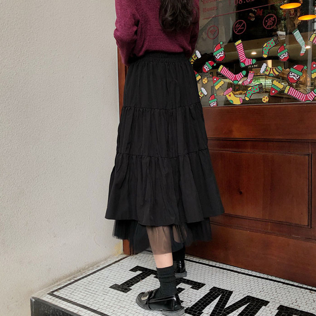 Long Skirt With Lace Ruffles  3