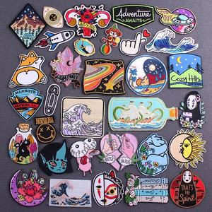 Diy Anime Ecusson Thermocollants Patch Embroidered Parches Patches On Clothes Iron On Patches On Clothes Sticker Adhesives Patch