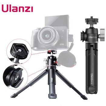 Ulanzi U-Vlog lite Extendable Dual Cold Shoe Ball Head Tripod for smartphone Sony Canon Nikon DSLR Camera Mic Light Accessories 1