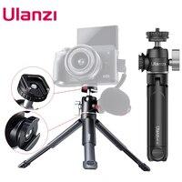 Ulanzi U-Vlog lite Allungabile Dual Fredda Shoe Testa A Sfera Treppiedi per smartphone Sony Canon Nikon DSLR Camera Mic accessori di luce