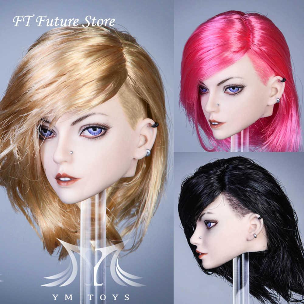"""1:6 YMTOYS YMT046E Head Sculpt PVC Brown Short  Hair Toy Fit 12/""""Action Figure"""