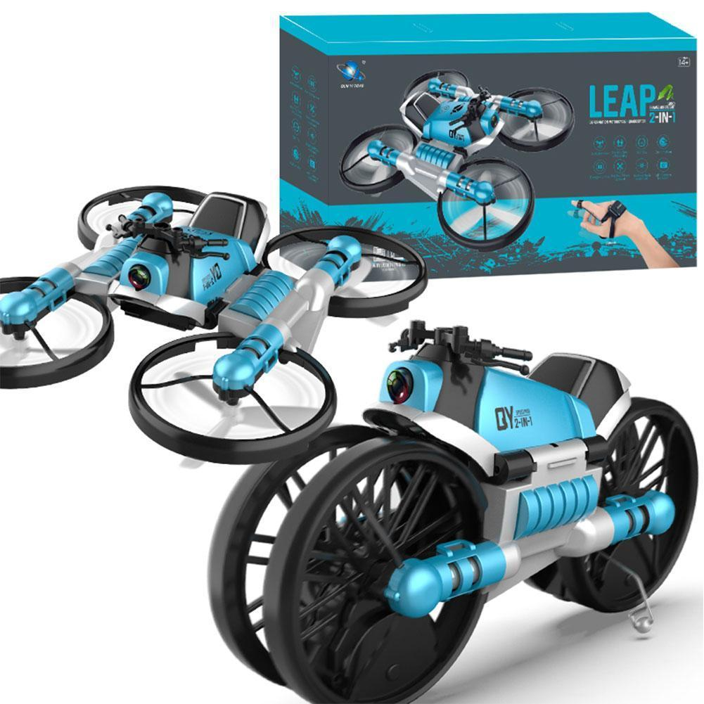 2 In 1 Deformation Motorcycle Airplane Land And Air Dual Mode Travel Toy 2.4G Remote Control Helicopter With Camera Funny Gift