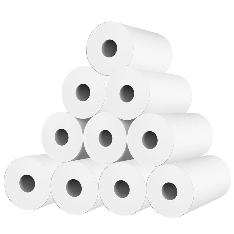 10 Rolls White Kid Camera Wood Pulp Thermal Paper Instant Print Replacement Part L41E