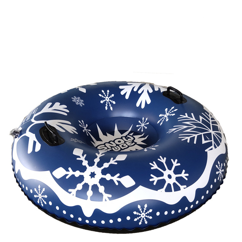 Outdoor Durable Snow Toy Winter Inflatable Ski Circle Circle With Handle Children Adult Snow Tube Skiing Thickened Floated Sled