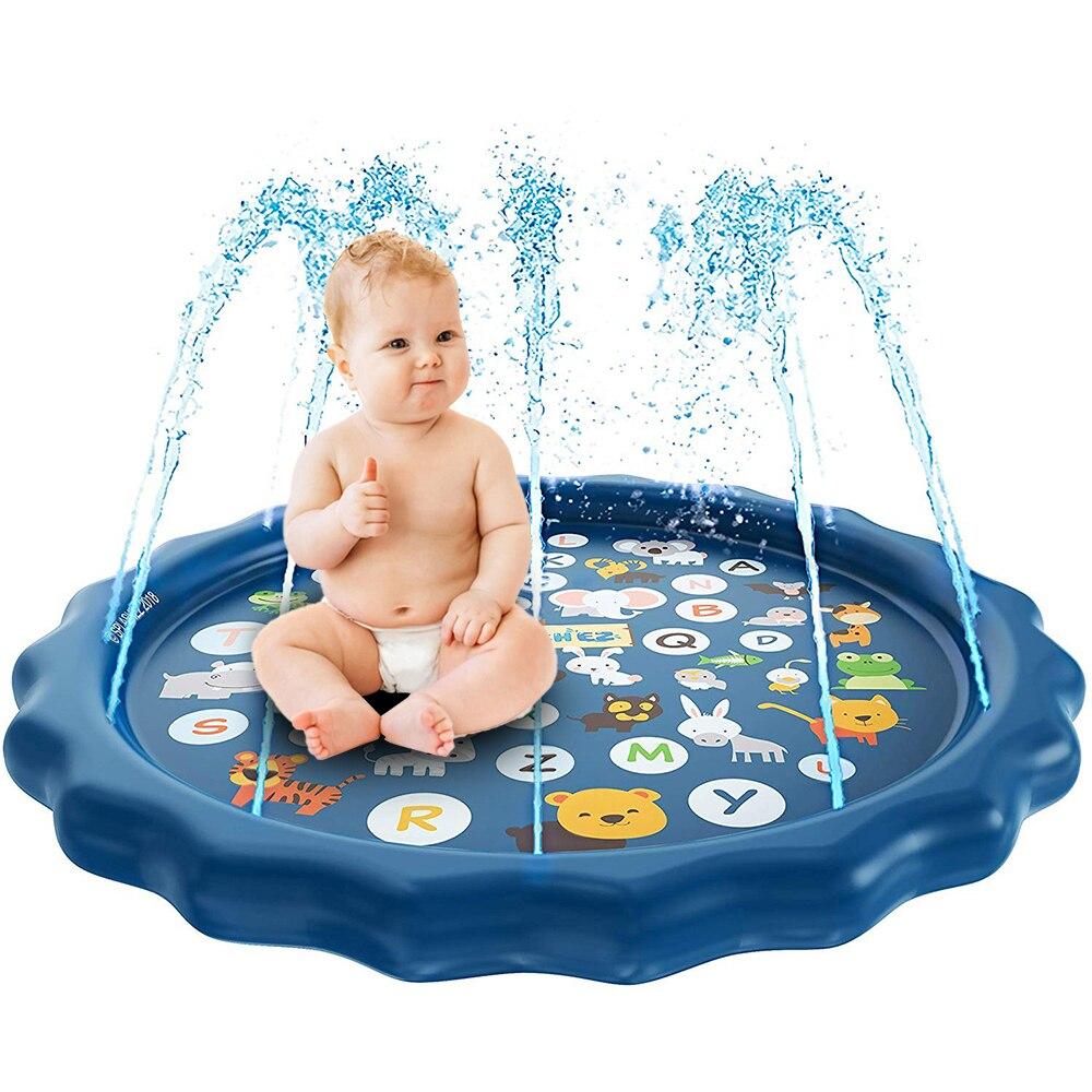 170CM Summer Kids Spray Water Cushion Play Water Mat  PVC Tub Swiming Pool Lawn Games Pad Sprinkler Play Toys