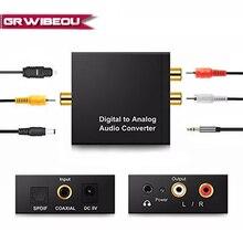 3,5 мм Jack 2* RCA цифровой аналоговый аудио усилитель конвертера декодер оптический волоконный коаксиальный сигнал в аналоговый стерео аудио адаптер