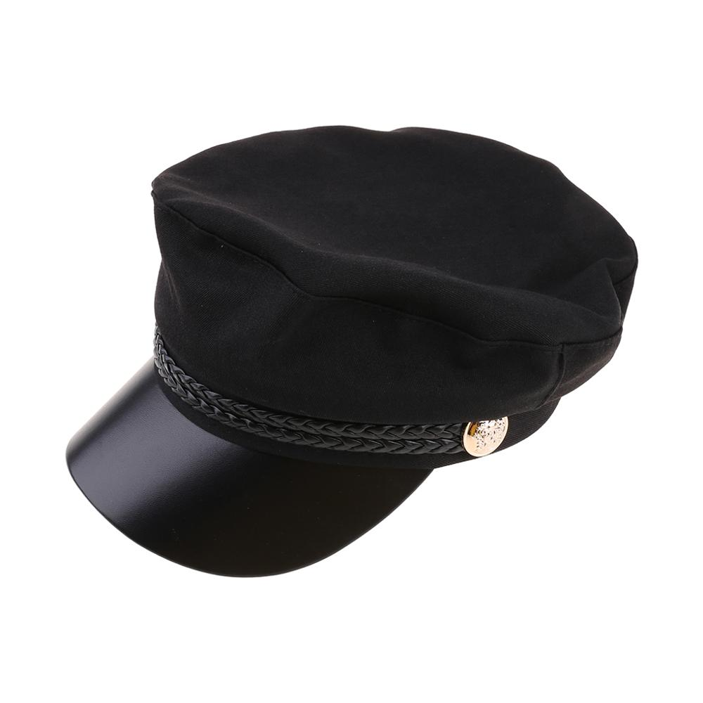 Captain's Yacht Sailors Hat Snapback Adjustable Sea Cap Navy Costume Accessory R7RB