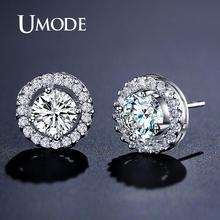 Hearts & Arrows cut Top Quality 0.75 carat Swiss CZ Diamond Stud Earring (Umode UE0012)