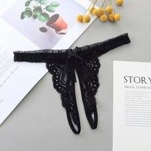 Roupa interior sexy g t string cuecas femininas rendas laço laço sem costura tanga bragas underpant lingerie erótica intimates