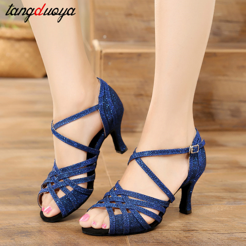Hot Selling Women Professional Dancing Shoes Ballroom Dance Shoes Women Salsa Latin Dance Shoes High Heels 5/6/8cm