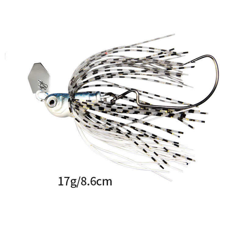 17g chatterbait lâmina isca com saia de borracha barba suave iscas de pesca enfrentar colorido corpo pena saia mar pesca equipamento