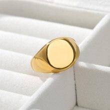Нержавеющая сталь простые винтажные кольца для мужчин и женщин