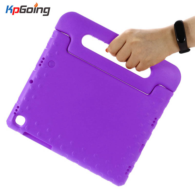 Purple EVA Kids Case For Samsung Galaxy Tab S5E 10.5 SM-T720 T725 Shockproof Hand-held EVA Full Body Cover Handle Stand Fundas image