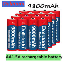 1 ~ 20 pcs/lot marque AA batterie rechargeable 9800mah 1.5V nouvelle batterie Rechargeable alcaline pour jouet lumineux led mp3(China)