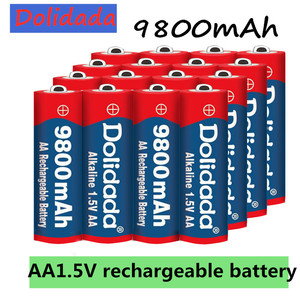 1~20pcs/lot Brand AA rechargeable battery 9800mah 1.5V New Alkaline Rechargeable batery for led light toy mp3