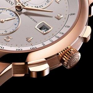 Image 4 - スイス高級ブランド lobinni 腕時計自動機械式メンズメンズ機能サファイアムーンフェイズ時計 L16001 3