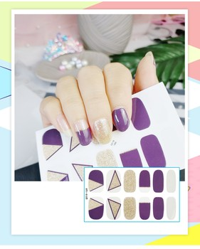 The Latest Full Coverage Nail Polish Film 3d Waterproof, Environmentally Friendly And Durable Nail Stickers Fashion Nail Appliqu image